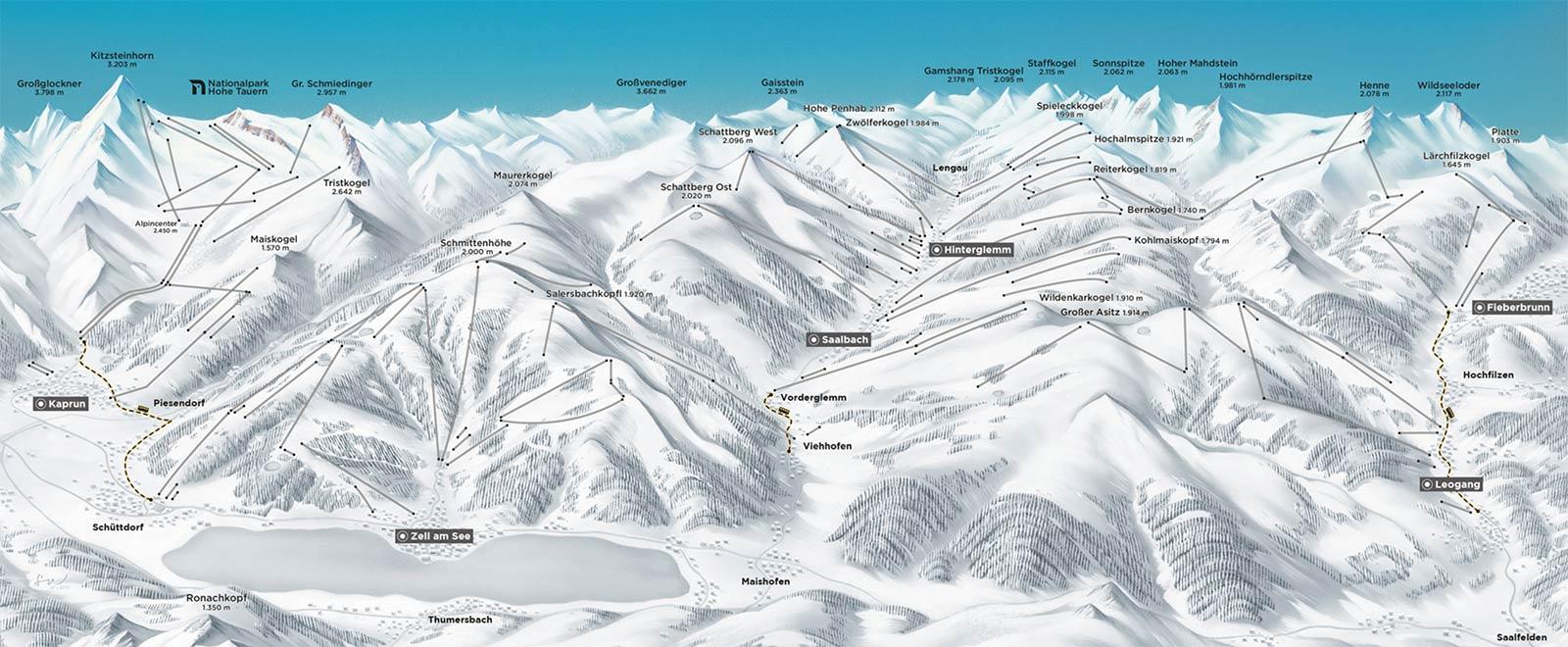 Übersicht: Die Gebiete der Alpin Card (Ski, Action, Classic) 2019/2020