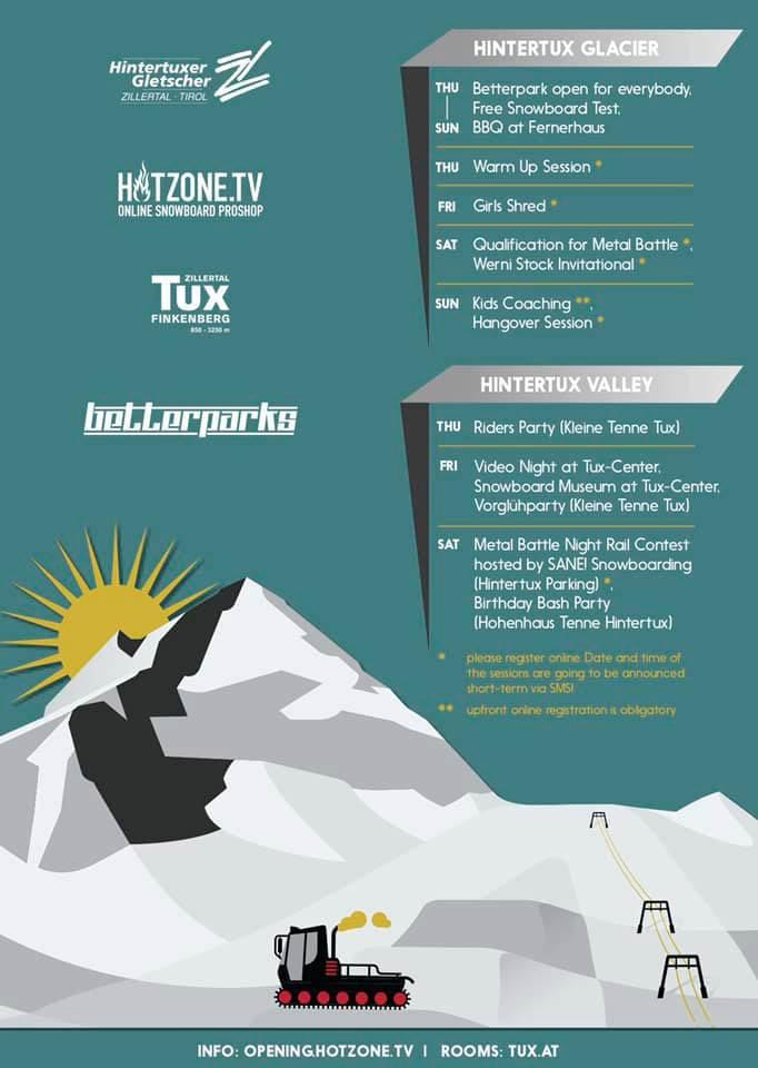 Das Programm beim Hintertux Opening 2019 (Tirol) im Überblick.