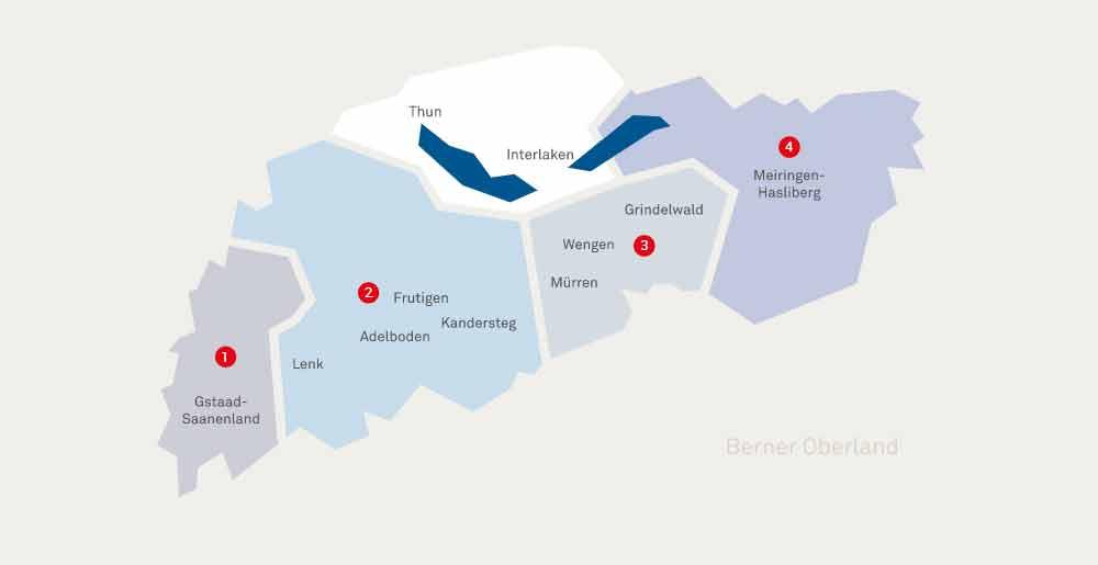Übersicht: Die Gebiete des Top4 Skipass 2019/2020