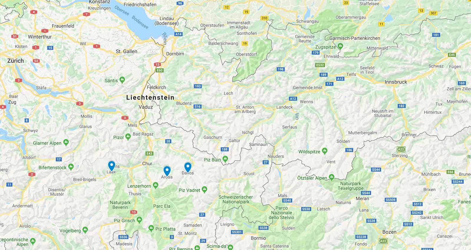 Übersicht: Die Gebiete der Topcard (Schweiz) 2019/2020