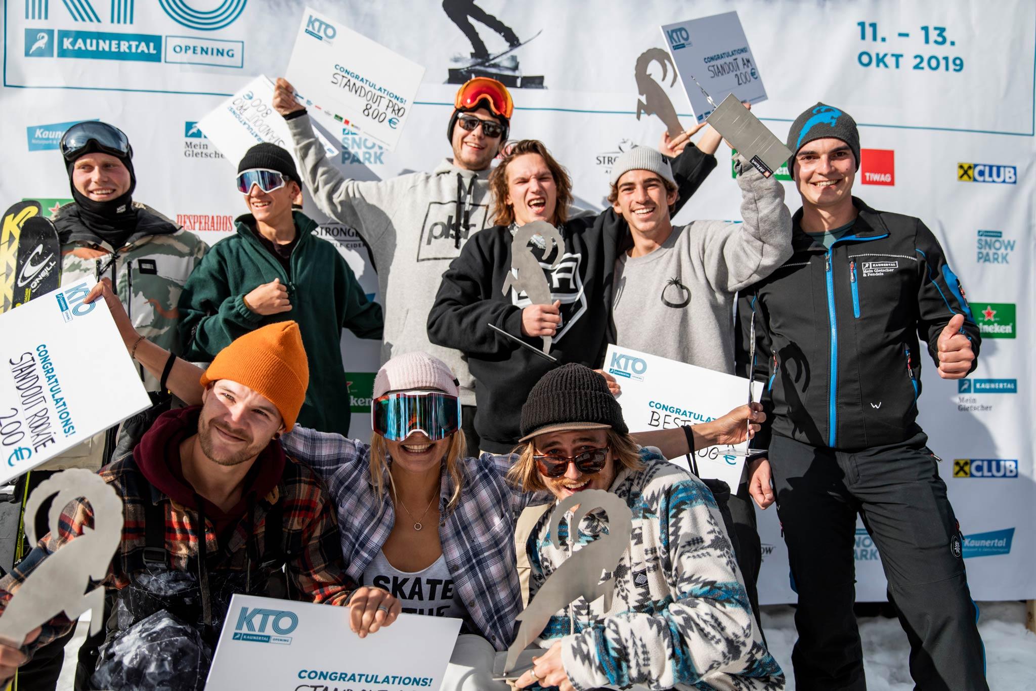 Die Gewinner der Overall Wertungen beim Kaunertal Opening 2019