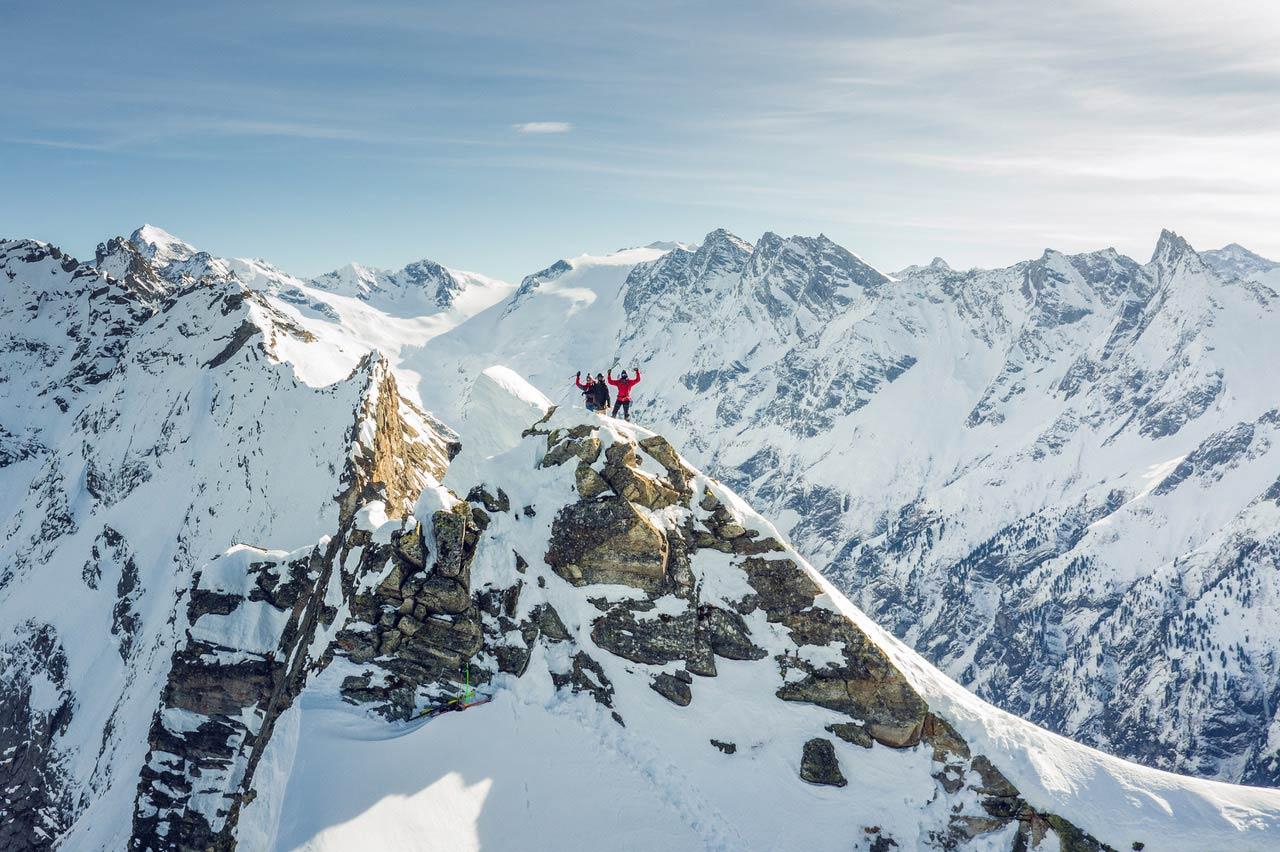 Auf dem Gipfel: Fabi Lentsch & Roman Rohrmoser - Foto: Tom Klocker