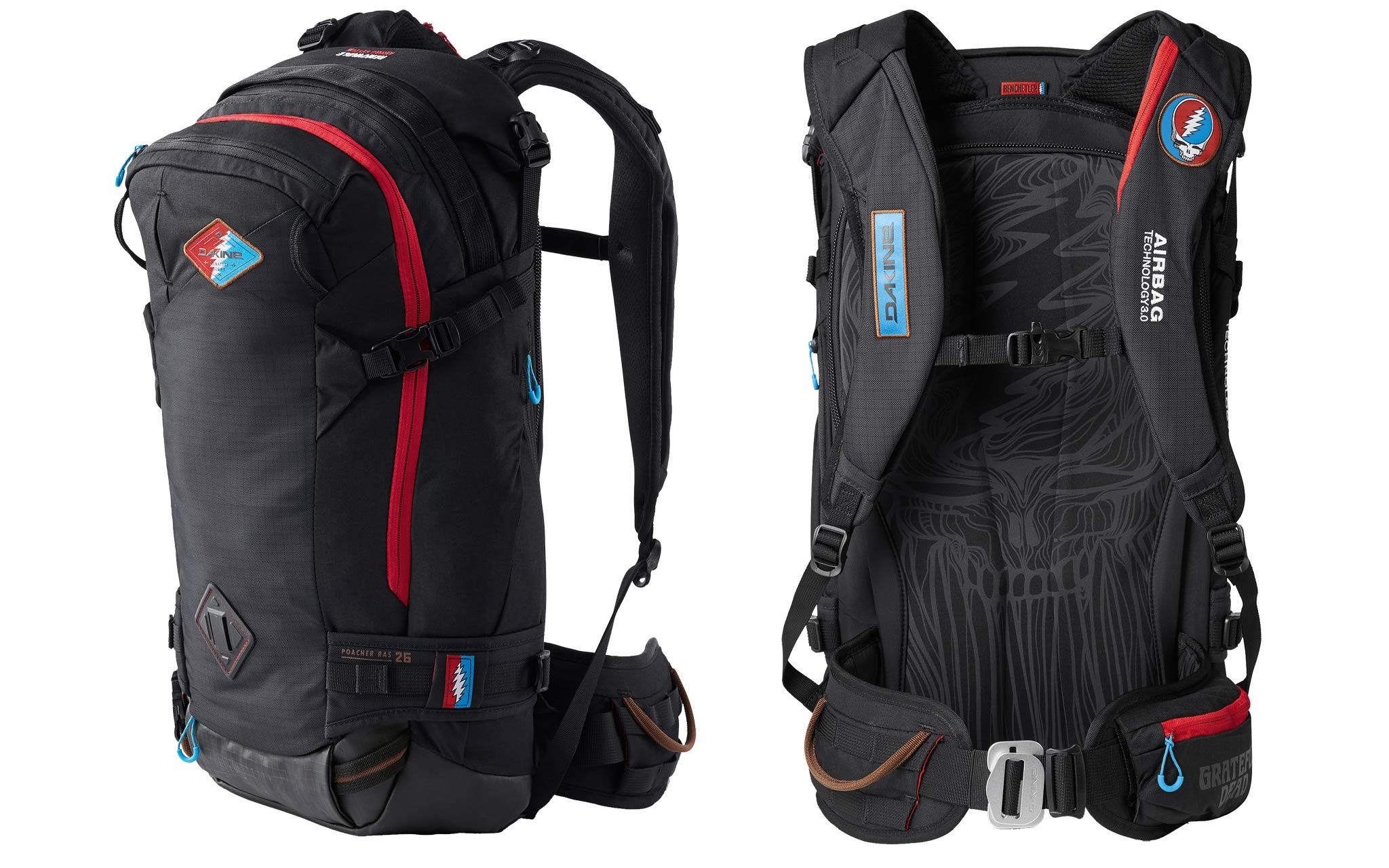 Dakine 2019/2020 - Team Poacher R.A.S. 26L: Das Hauptfach und die große Seitentasche verfügen über praktische Reißverschlüsse und helfen dir, dein Skigepäck perfekt zu organisieren und zu transportieren. Dabei sorgen die schmale Passform des Rucksacks und die verstellbaren Schulterträger für den nötigen Tragekomfort.