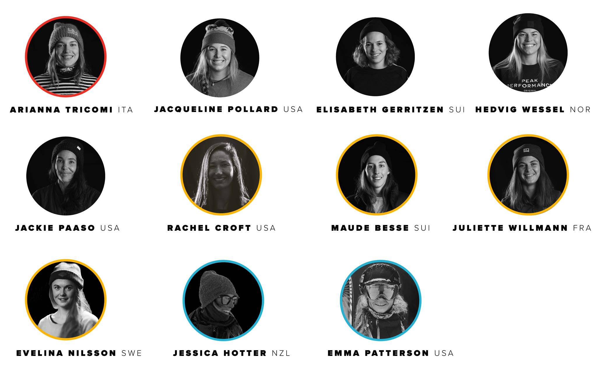 Freeride World Tour 2020: Alle Ski Damen in der Übersicht