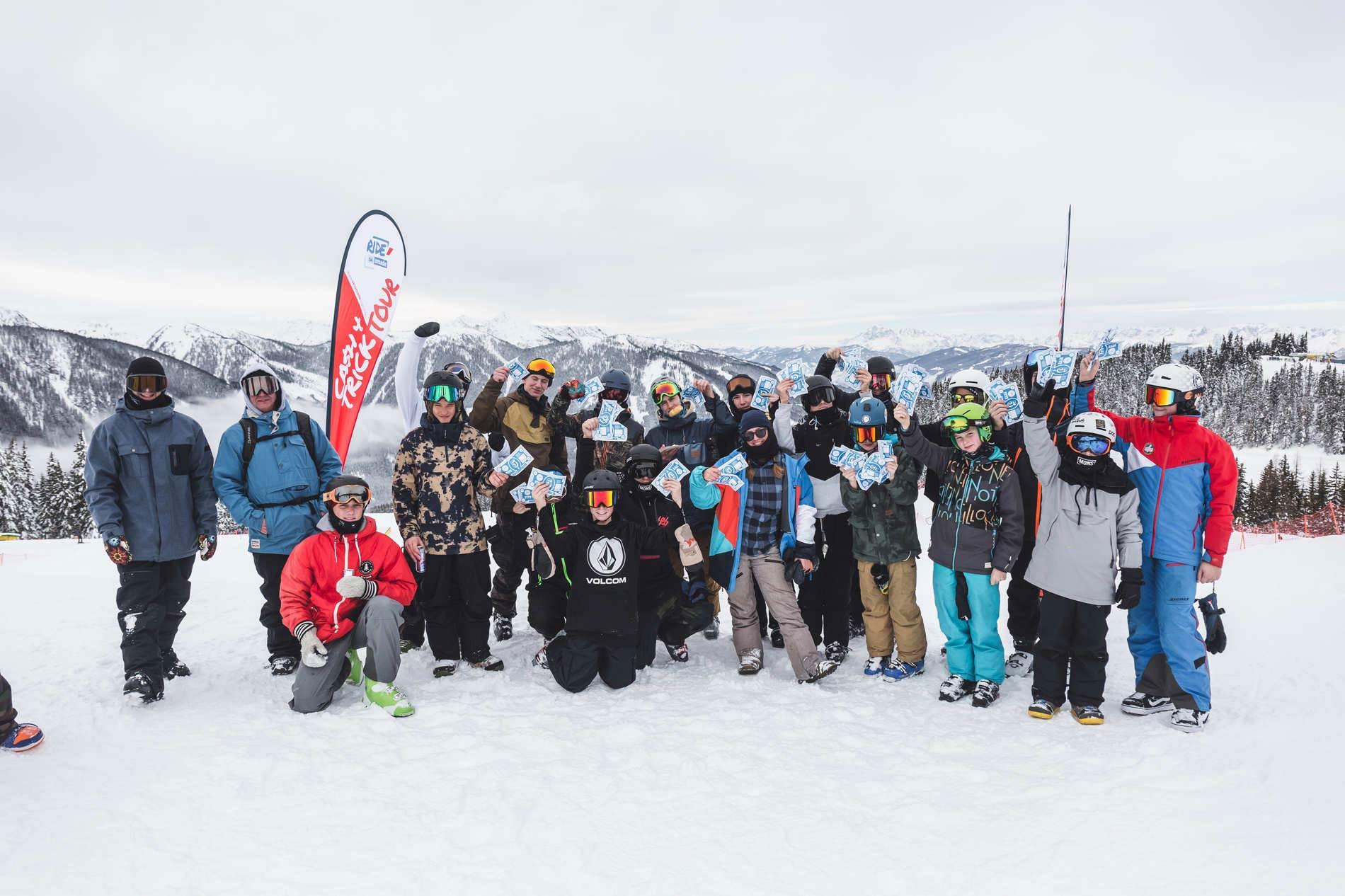 """Gemeinsam Shredden und Geld verdienen - das könnt ihr bei der Ride Ski amadé """"Cash 4 Tricks Tour 2020""""! - Foto: Hannes Mautner"""