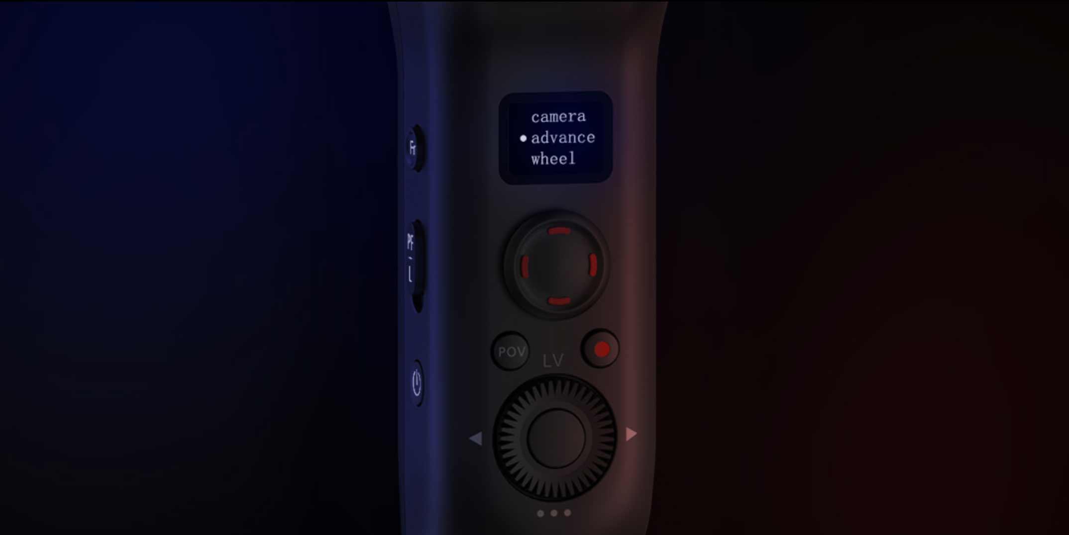 Das OLED Display sowie die Tasten am Weebill-S.