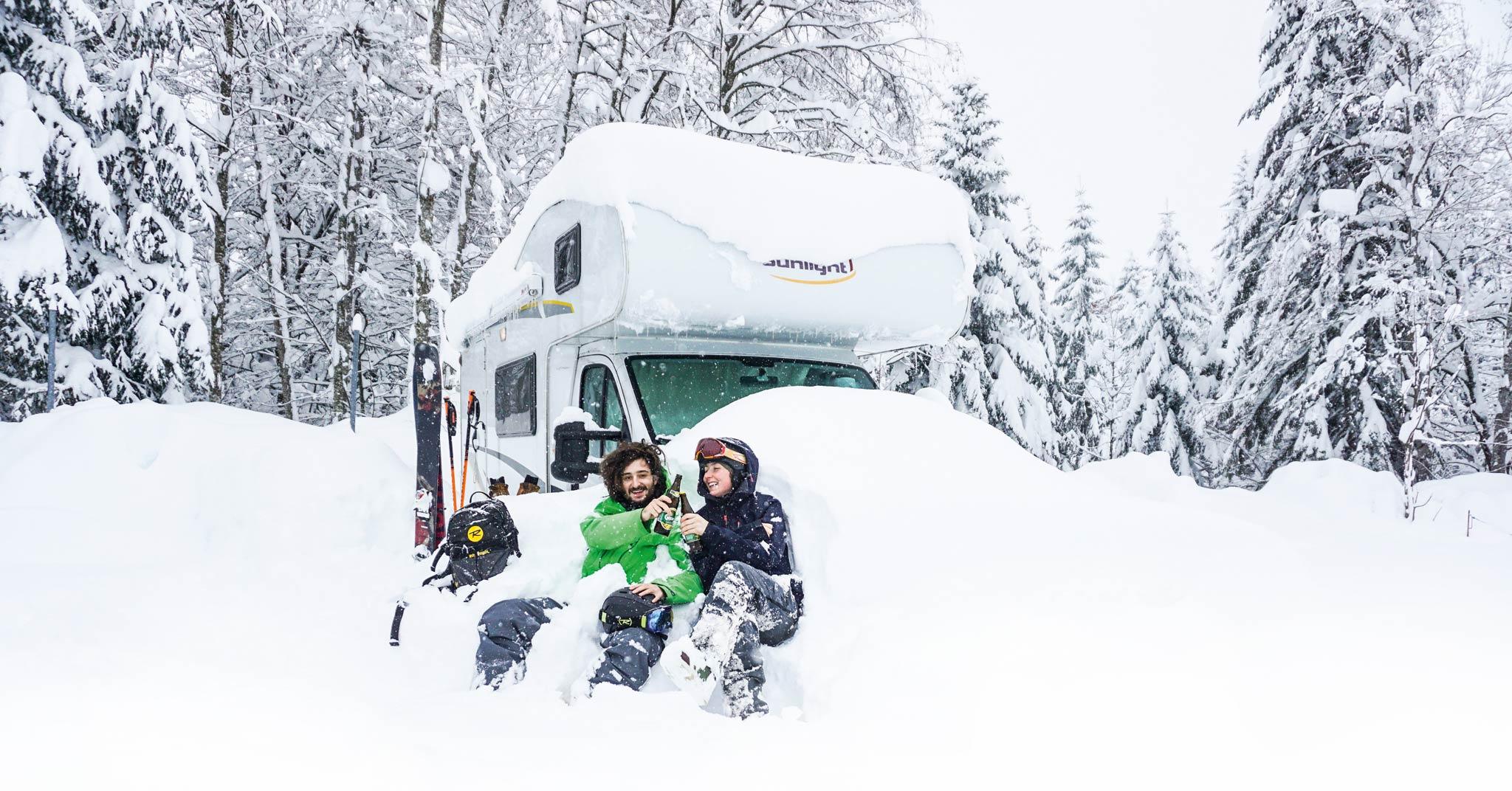"""""""Skifahren ist ein Gesellschaftssport und wir sind ein Haufen glücklicher Freerider."""" - David Kantermo"""