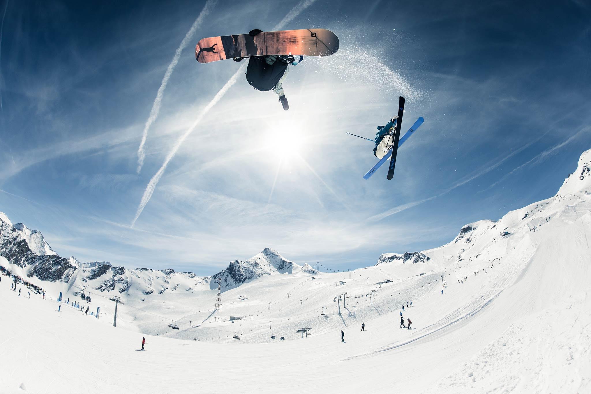 Egal ob auf einem oder zwei Brettern: Der Park am Kitzsteinhorn macht richtig Laune - Foto: Markus Rohrbacher