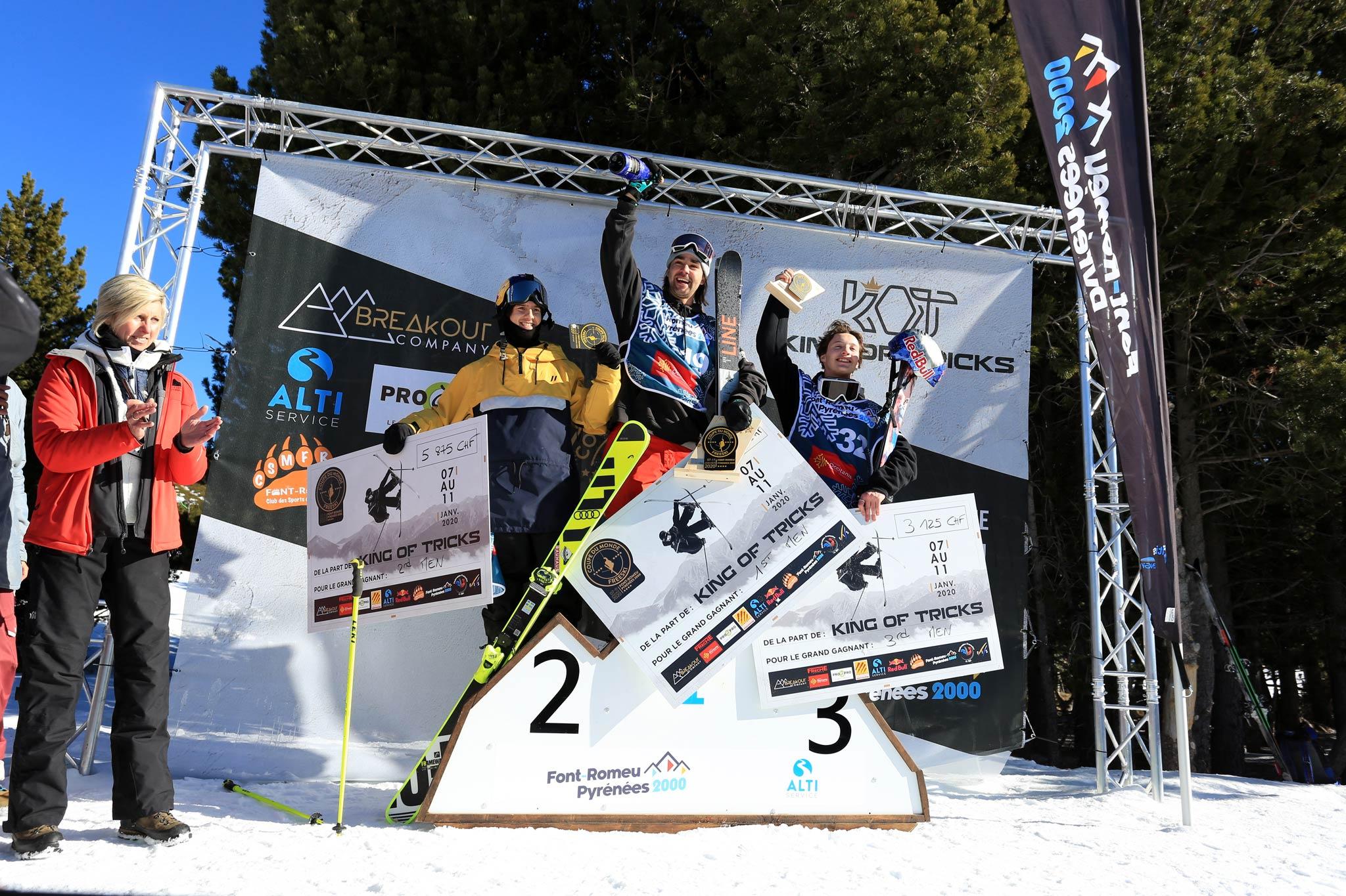 Das Podium der Männer: Jesper Tjäder (SWE), Mark Hendrickson (CAN), Cody Laplante (USA) - Foto: FIS/Buchholz
