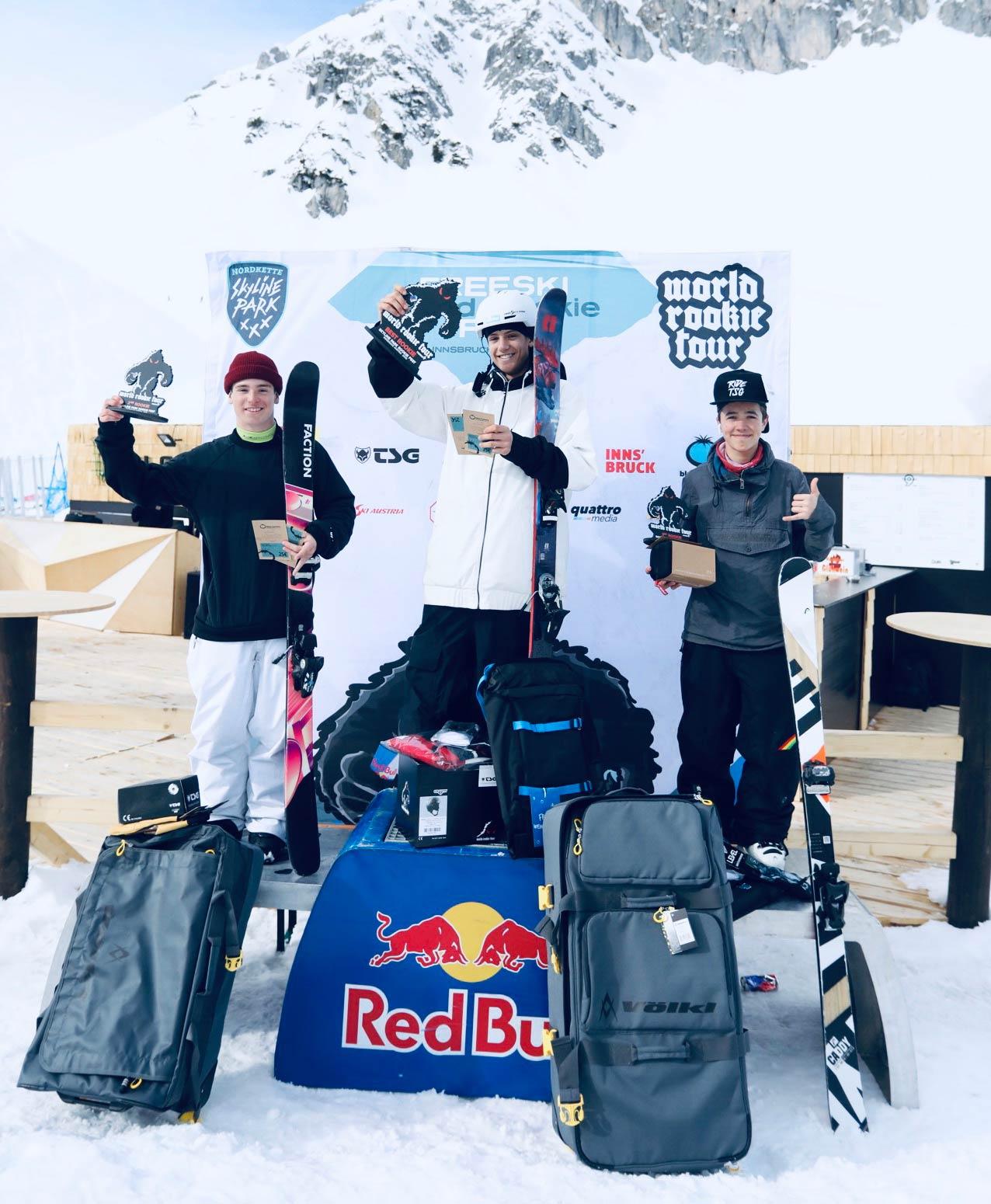 Die drei besten Rookies: Matej Svancer, Daniel Bacher, Gian Andri Bolinger - Foto: Simon Rainer
