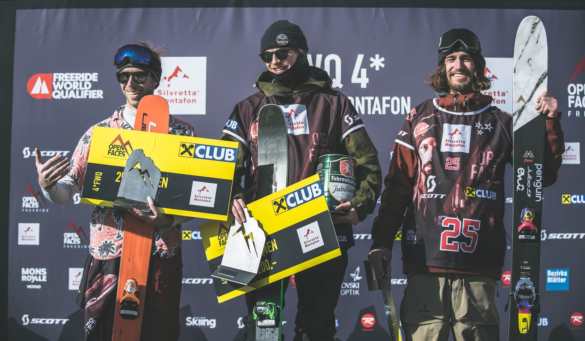 Die drei besten Männer: Maël Ollivier (FRA), Måns Fors Källstrand (SWE), Sebastian Hiersche (AUT) - Foto: Maria Knoll