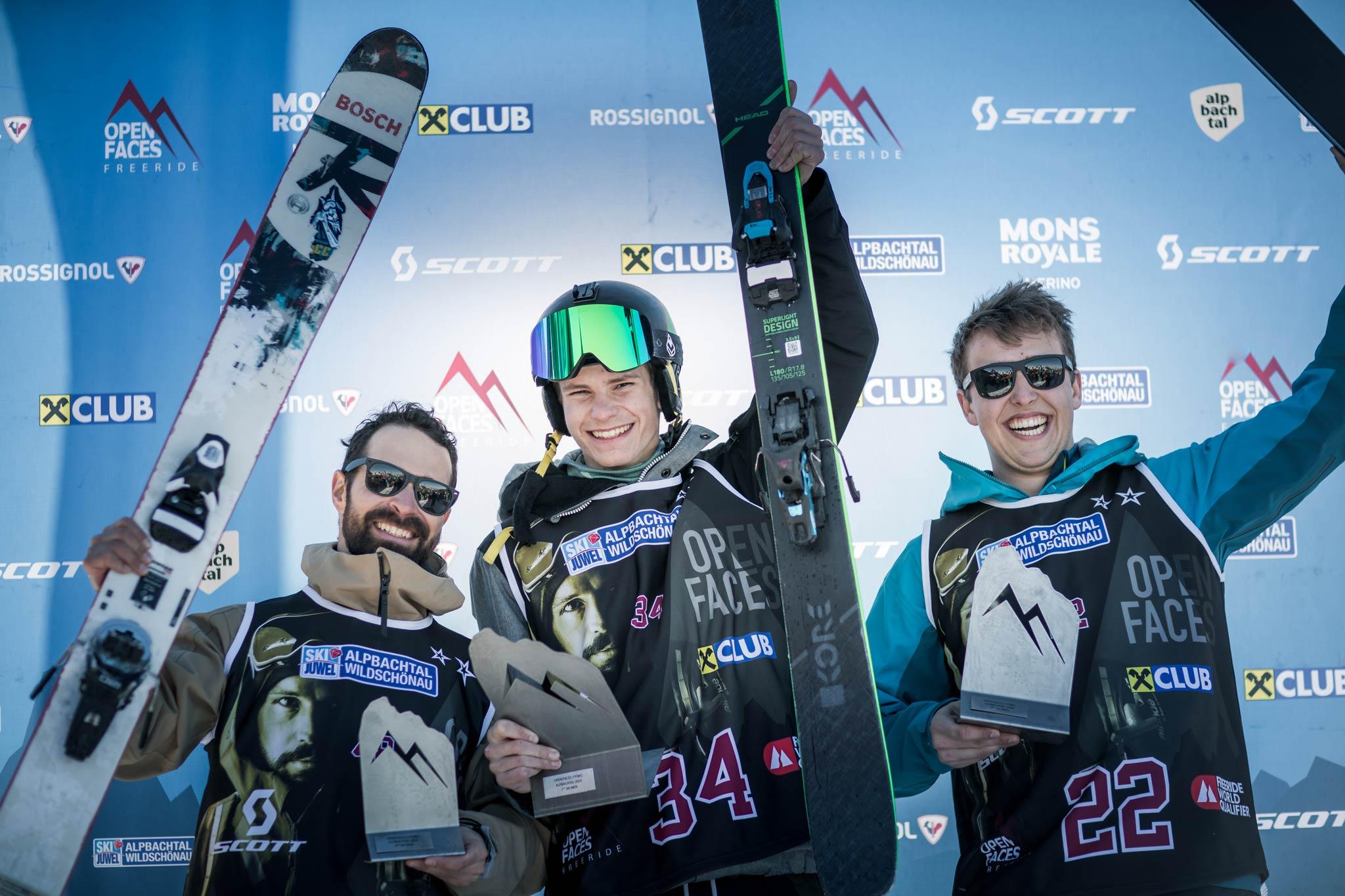 Die drei besten Männer im Alpbachtal: Kilian Gross (AUT), Niko Partell (AUT), Boyan Baacharov (BGR) - Foto: Mia Knoll