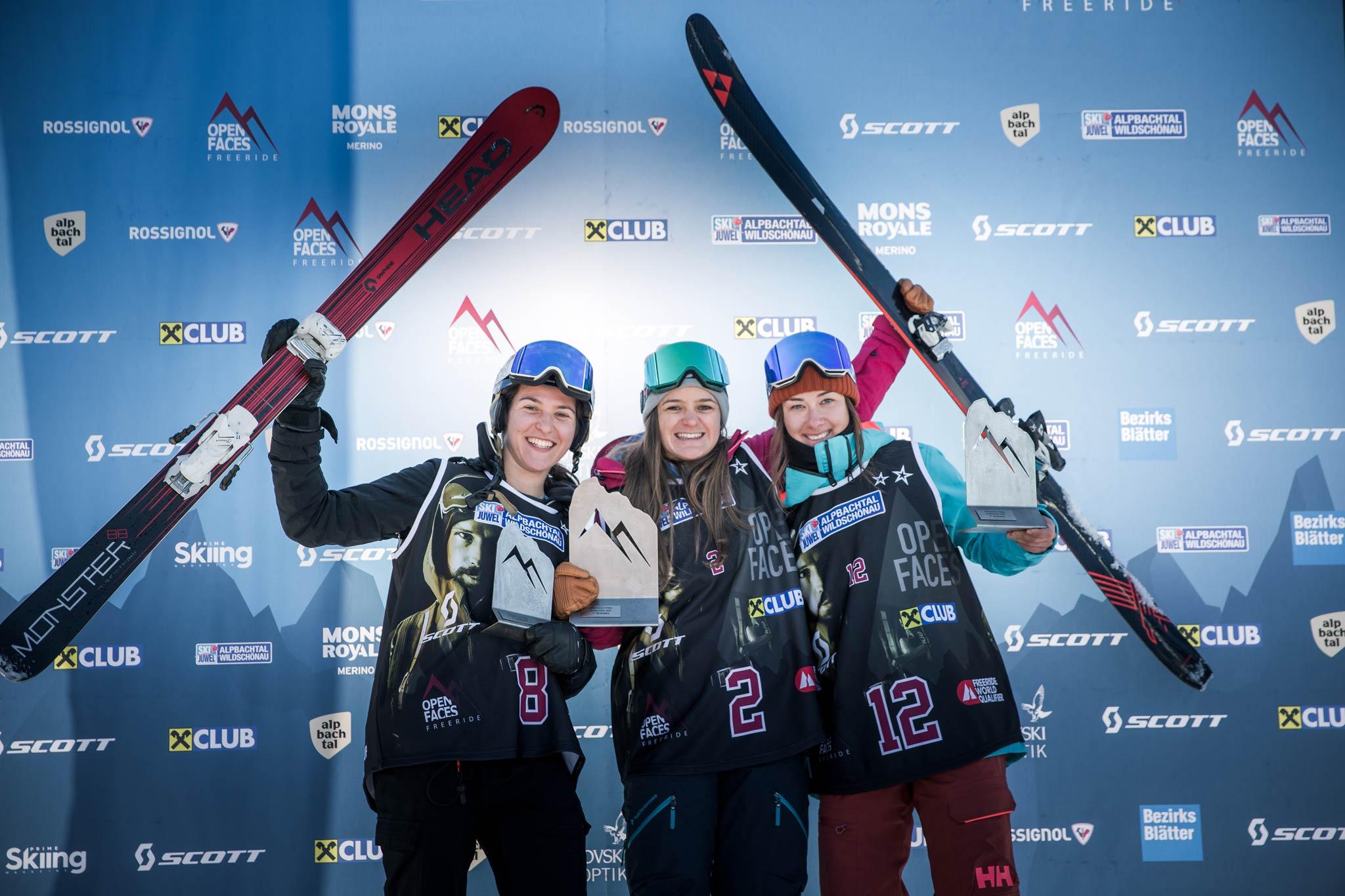 Die drei besten Frauen: Ann-Sophie Herbst(AUT), Lisa-Maria Ulz (AUT), Maria Pfeifer (ITA) - Foto: Mia Knoll