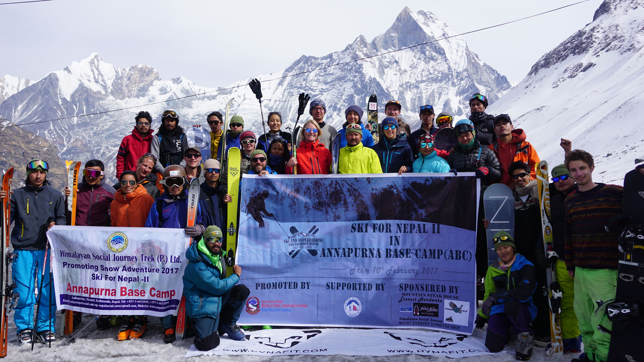 Den freiwilligen Skilehrern waren aufgrund der kurzen Zeit beim Ski for Nepal 2 nur wenige Touren möglich.