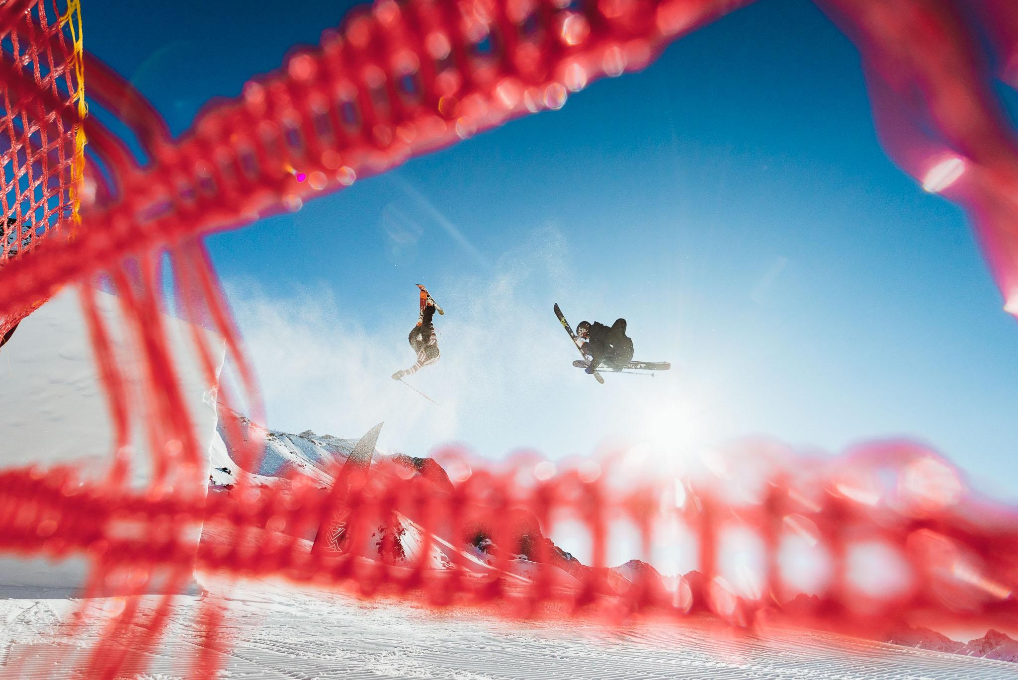 Bis zum nächsten Mal in Ischgl. - Rider: Jona Zimmermann (links), Lukas Schlickenrieder (rechts)