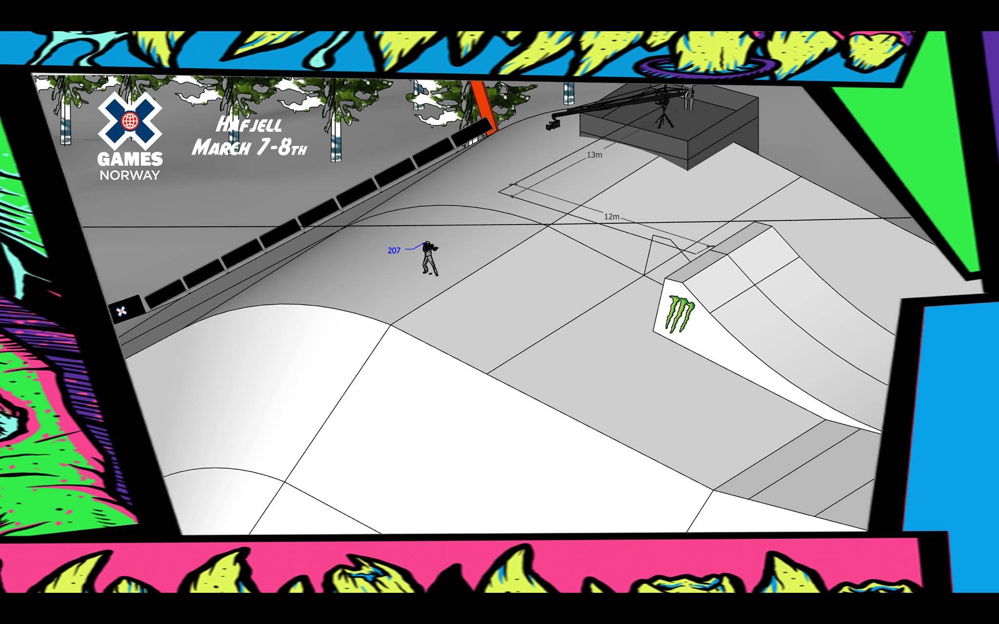 Als letztes Feature folgt ein Table Kicker mit einem ca. 12 Meter langem Table.