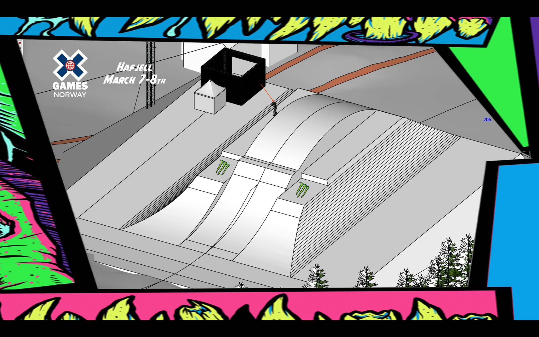 Die nächste Section besteht aus zwei Roller Kickern mit einem Turbo Knuckle in der Mitte und vielen Optionen für Tricks mit Taps, Handdrags und ähnlichen Manövern.
