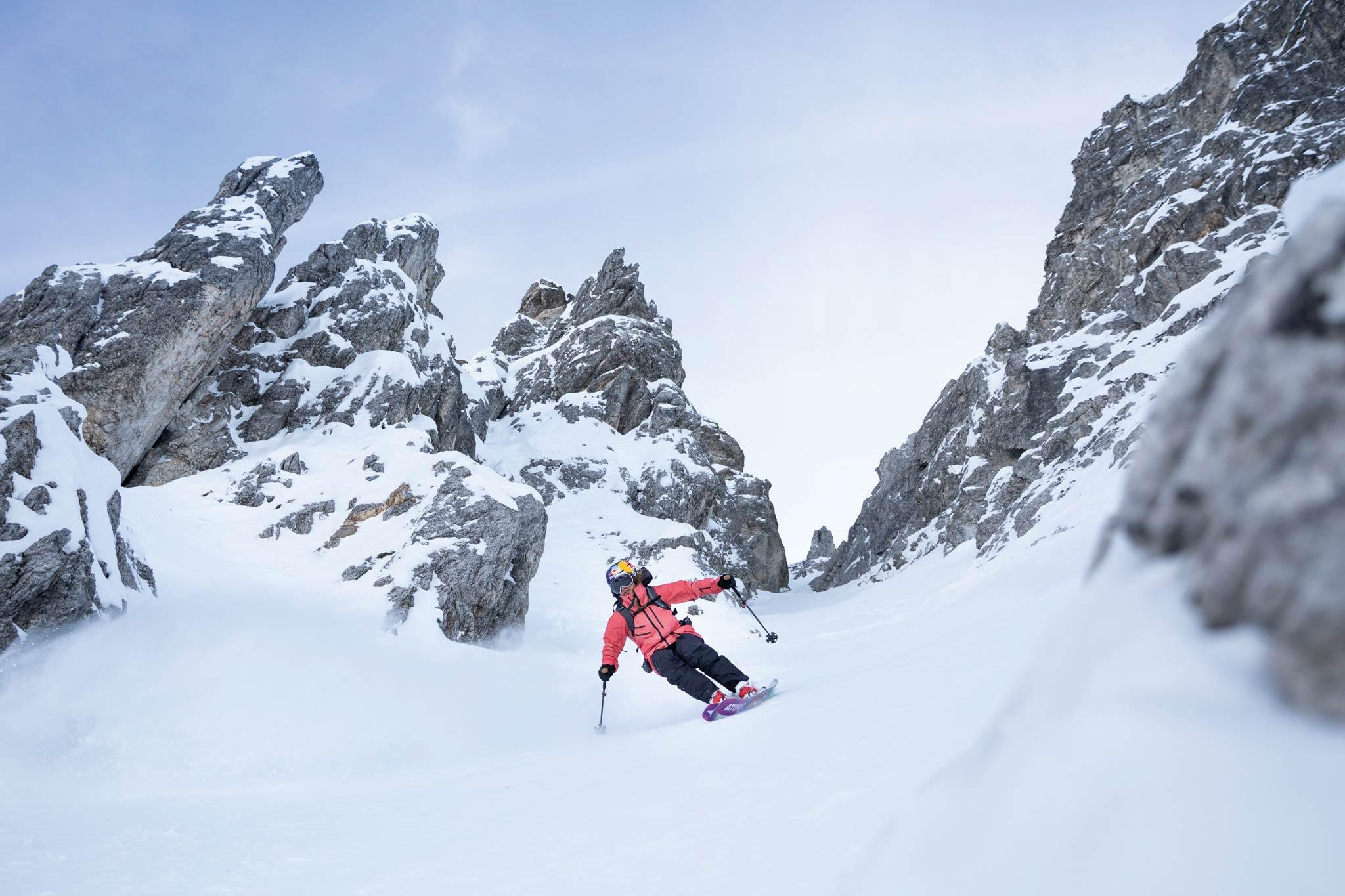 So gute Schneebedingungen wie auf diesem Bild waren Arianna Tricomi beim ersten Freeride World Tour 2020 Contest in Hakuba, Japan, leider nicht gegönnt. - Foto: Tobias Zlu Haller