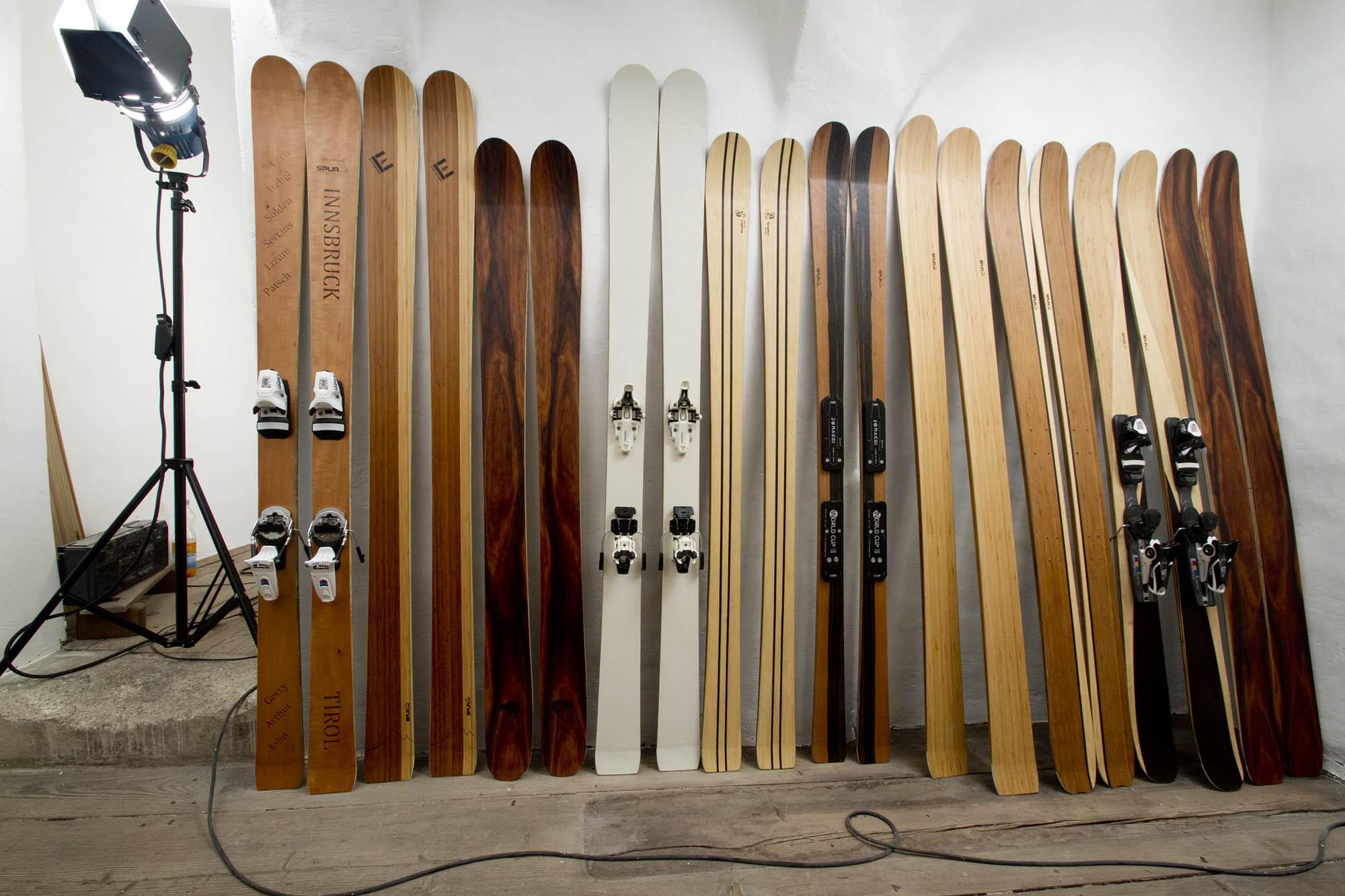 Trotz Nachhaltigkeit in der Skiproduktion hier hier jeden ein Modell dabei.