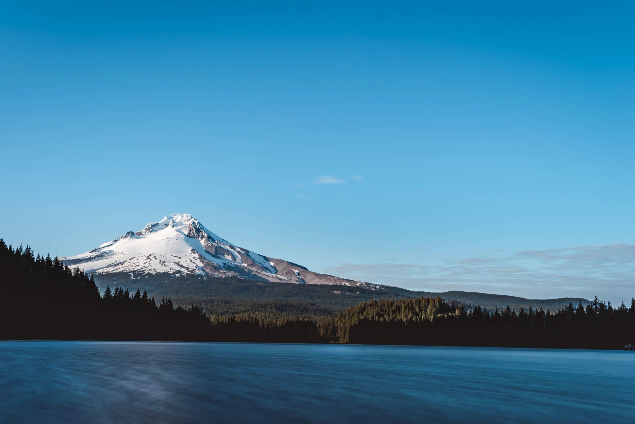 Der feuchte Traum aller Freeskier: Der Mount Hood in Oregon.