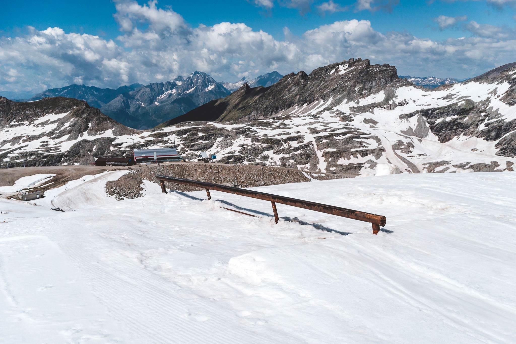 Das erste Feature im Park: Straight Rail.