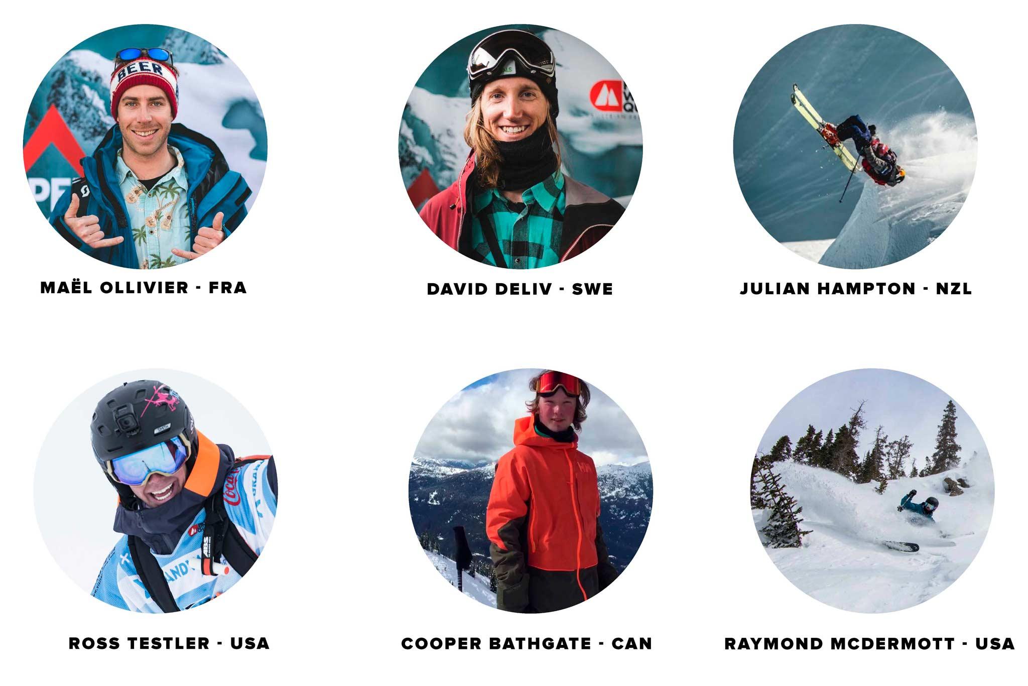Alle neuen Fahrer der Kategorie Ski Herren bei der Freeride World Tour 2021 in der Übersicht.
