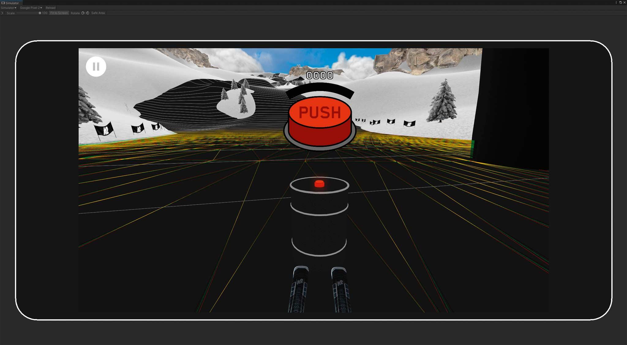 """Das K2 """"Disruption Cup Game"""" ist zum kostenlosen Download im App Store erhältlich und lädt Skifahrer und Snowboarder, Marathonläufer und Couch-Potatoes, Omas und Nachbarn, crazy Geeks und hipster Dudes dazu ein, sich packende Rennen auf der K2-Disruption-Cup-Strecke zu liefern."""