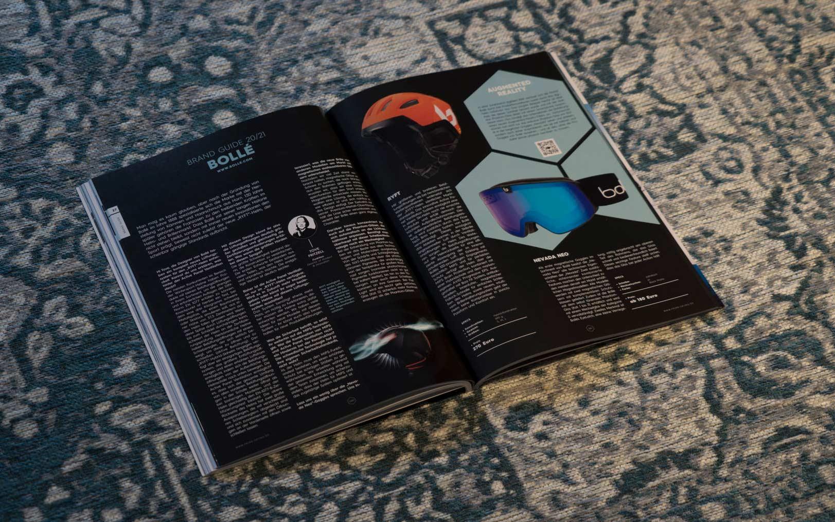 Bollé in der PRIME Skiing Brandguide 2021 Printausgabe