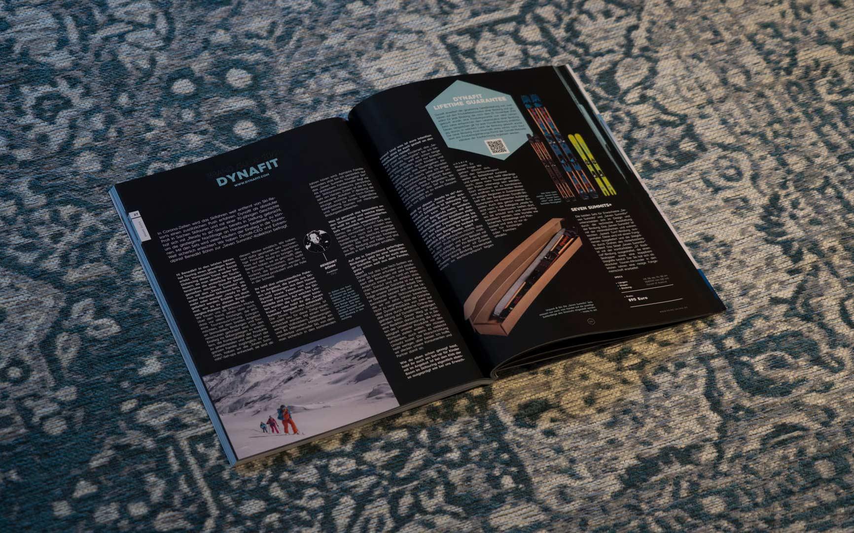 Dynafit in der PRIME Skiing Brandguide 2021 Printausgabe