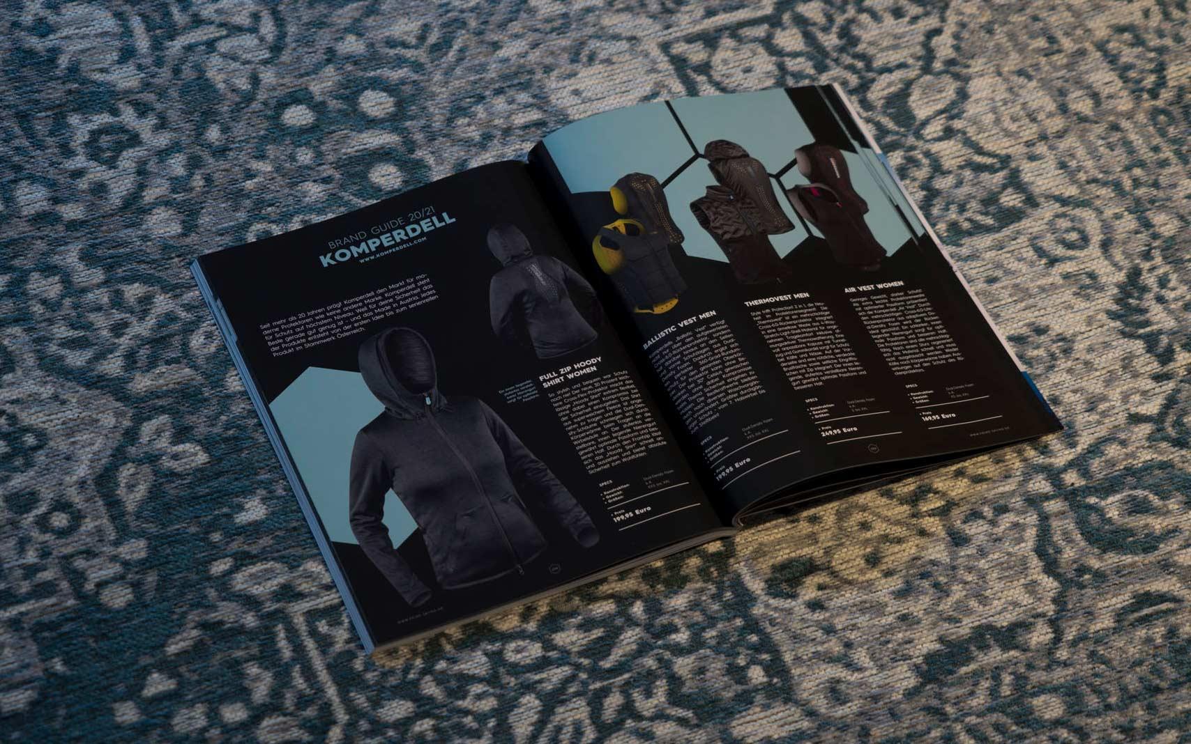 Komperdell in der PRIME Skiing Brandguide 2021 Printausgabe