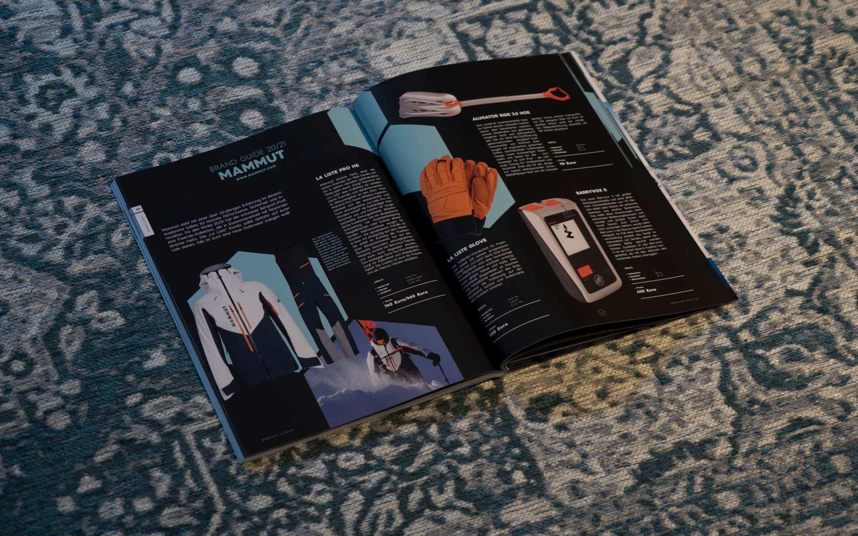 Mammut in der PRIME Skiing Brandguide 2021 Printausgabe