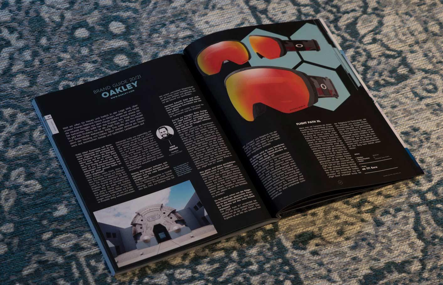 Oakley in der PRIME Skiing Brandguide 2021 Printausgabe