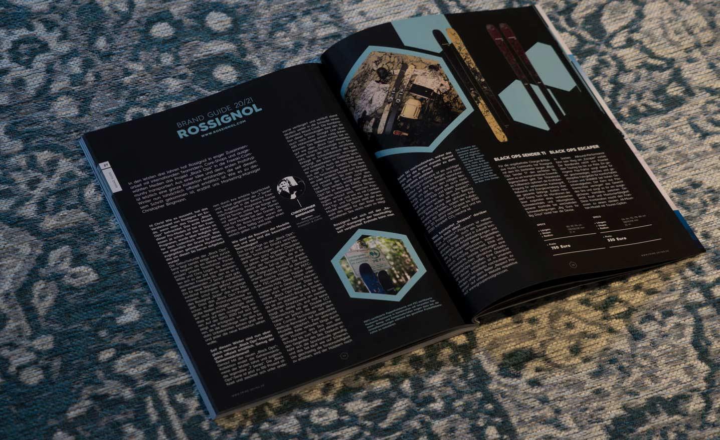 Rossignol in der PRIME Skiing Brandguide 2021 Printausgabe