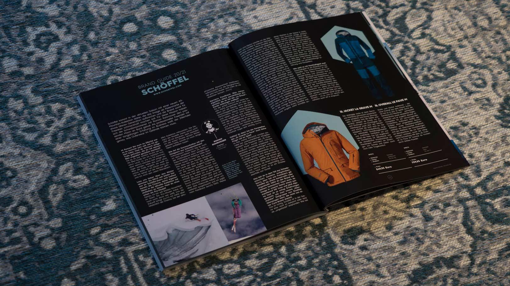 Schöffel in der PRIME Skiing Brandguide 2021 Printausgabe