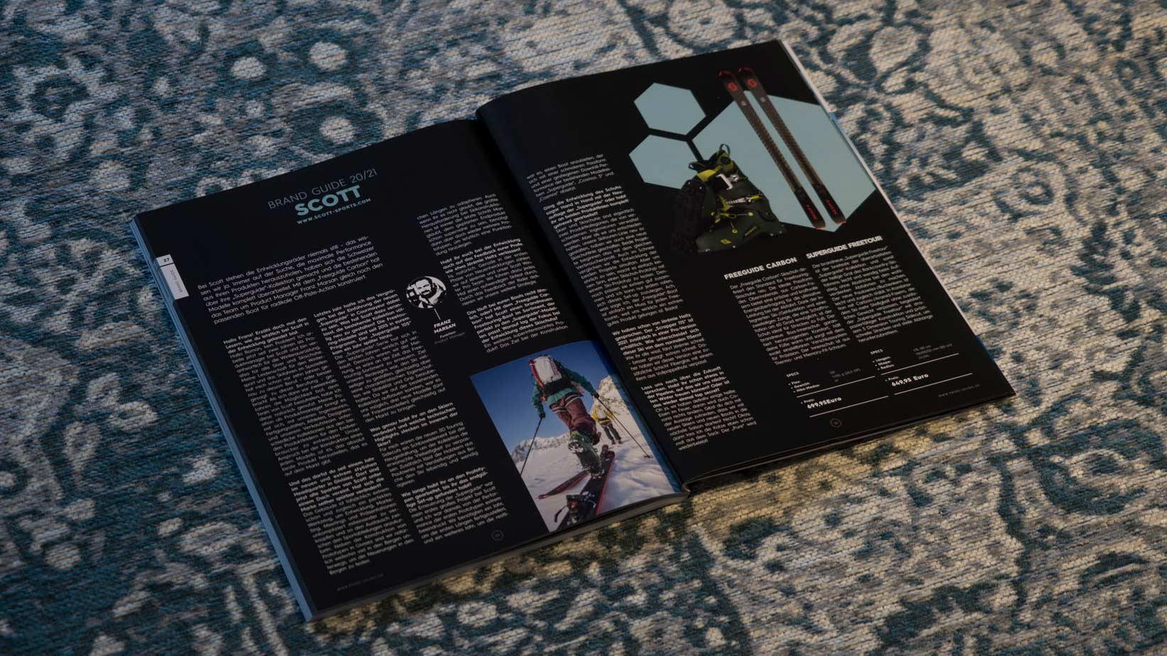 Scott in der PRIME Skiing Brandguide 2021 Printausgabe