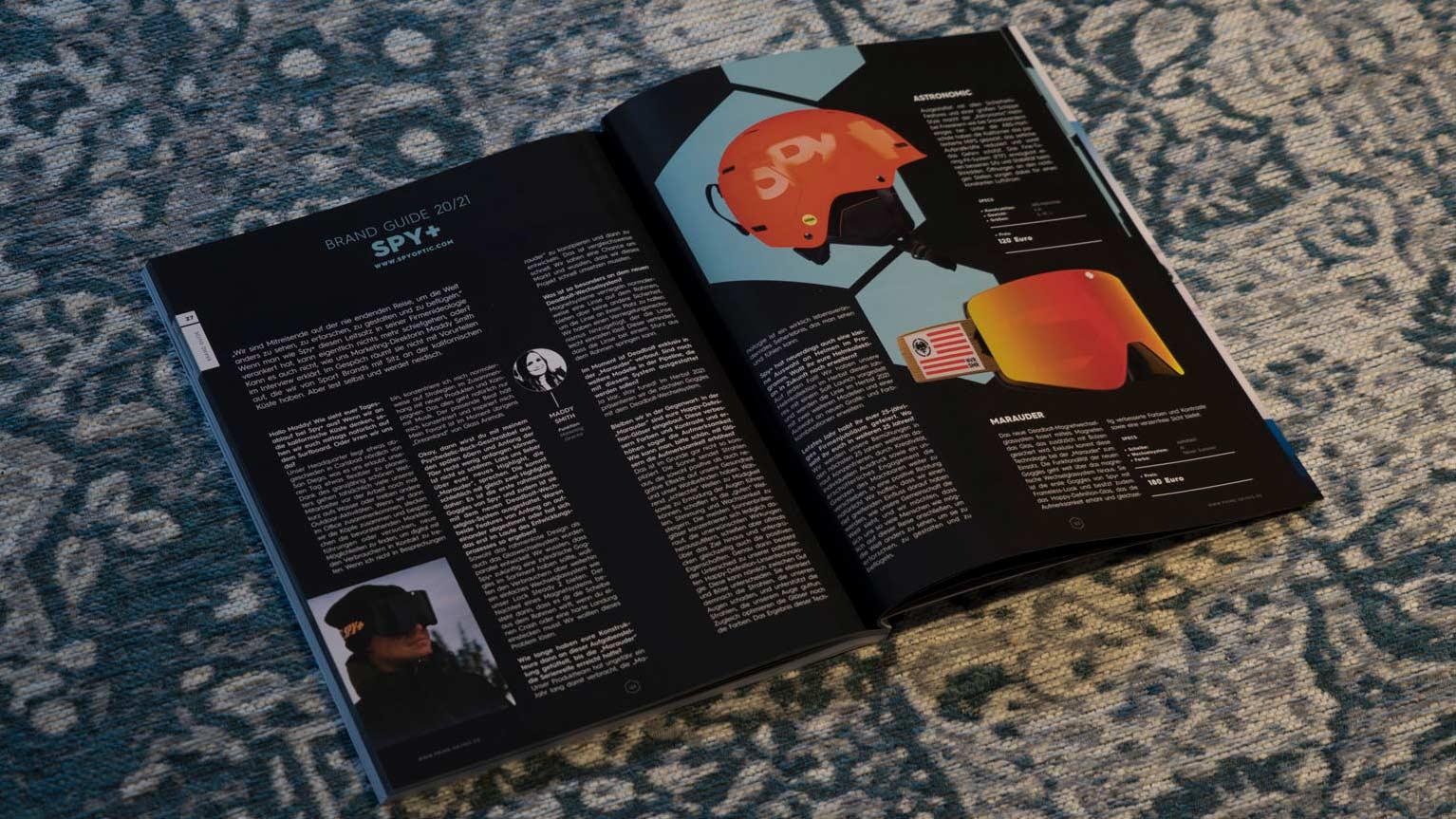 SPY+ in der PRIME Skiing Brandguide 2021 Printausgabe