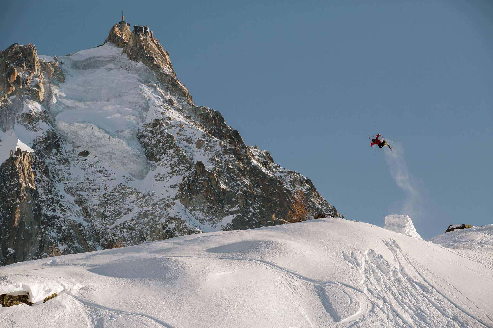 Trotz der whacken Musikauwahl gibt es im Chamonix Segment einiges zu staunen. - Rider: Jacob Wester - Foto: Sofia Sjoeberg