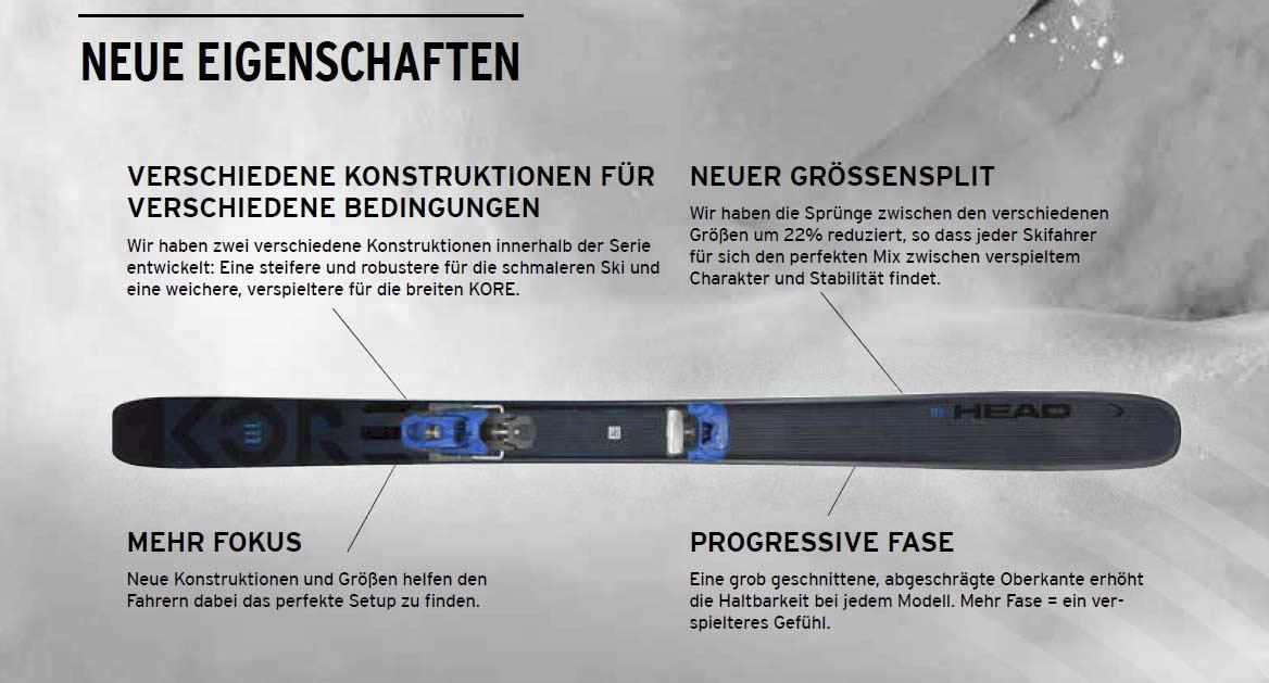 Head Skis - Kore 117 2022: Neue Eigenschaften - Bild: Head Skis