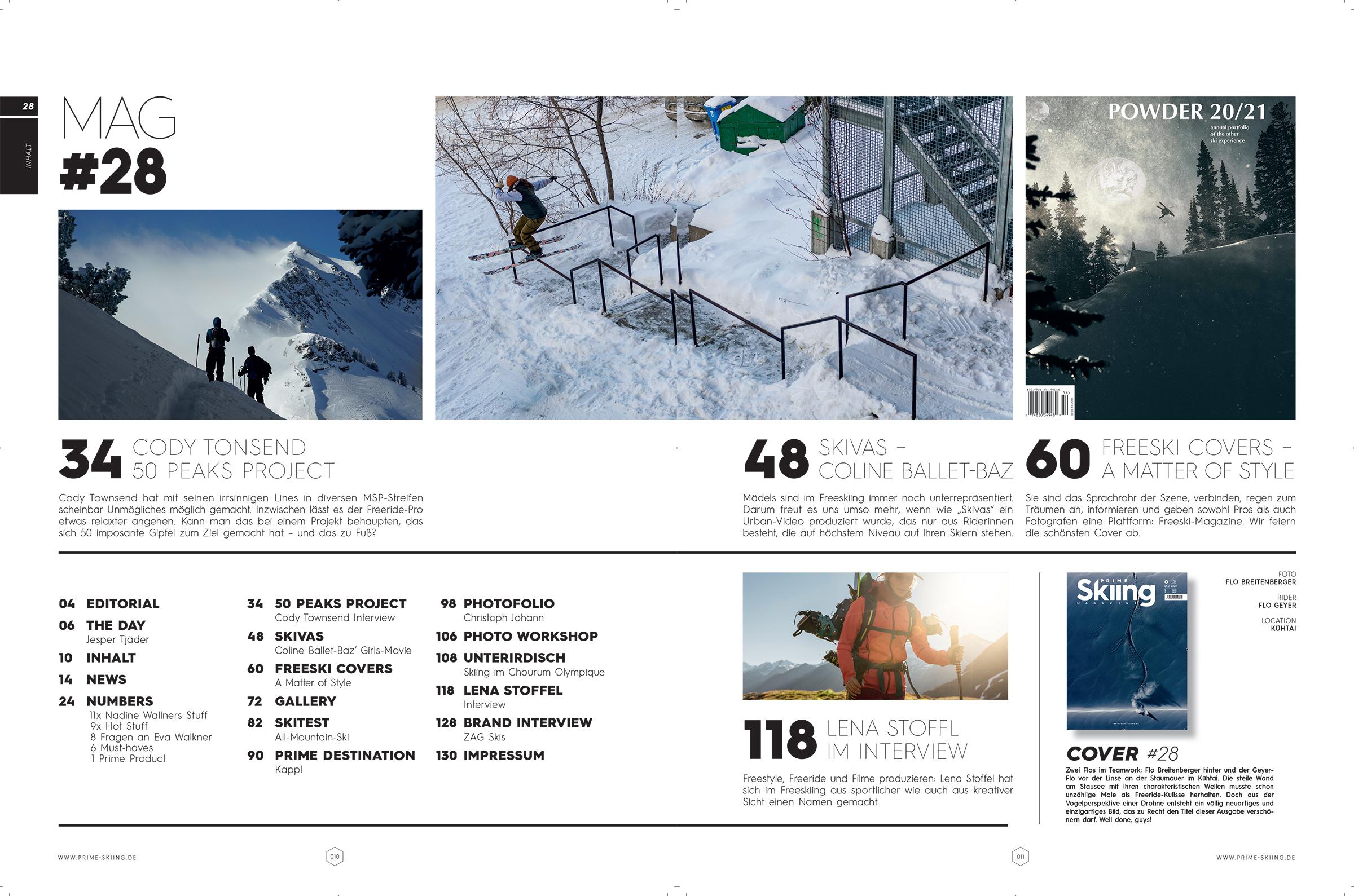 PRIME Skiing #28: Alle Artikel in der Übersicht
