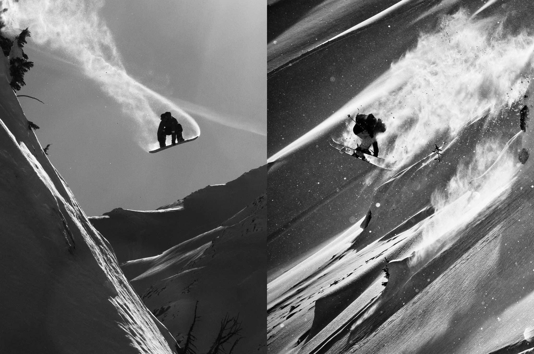 Pro Snowboarder Austin Smith und Pro Skifahrer Eric Pollard
