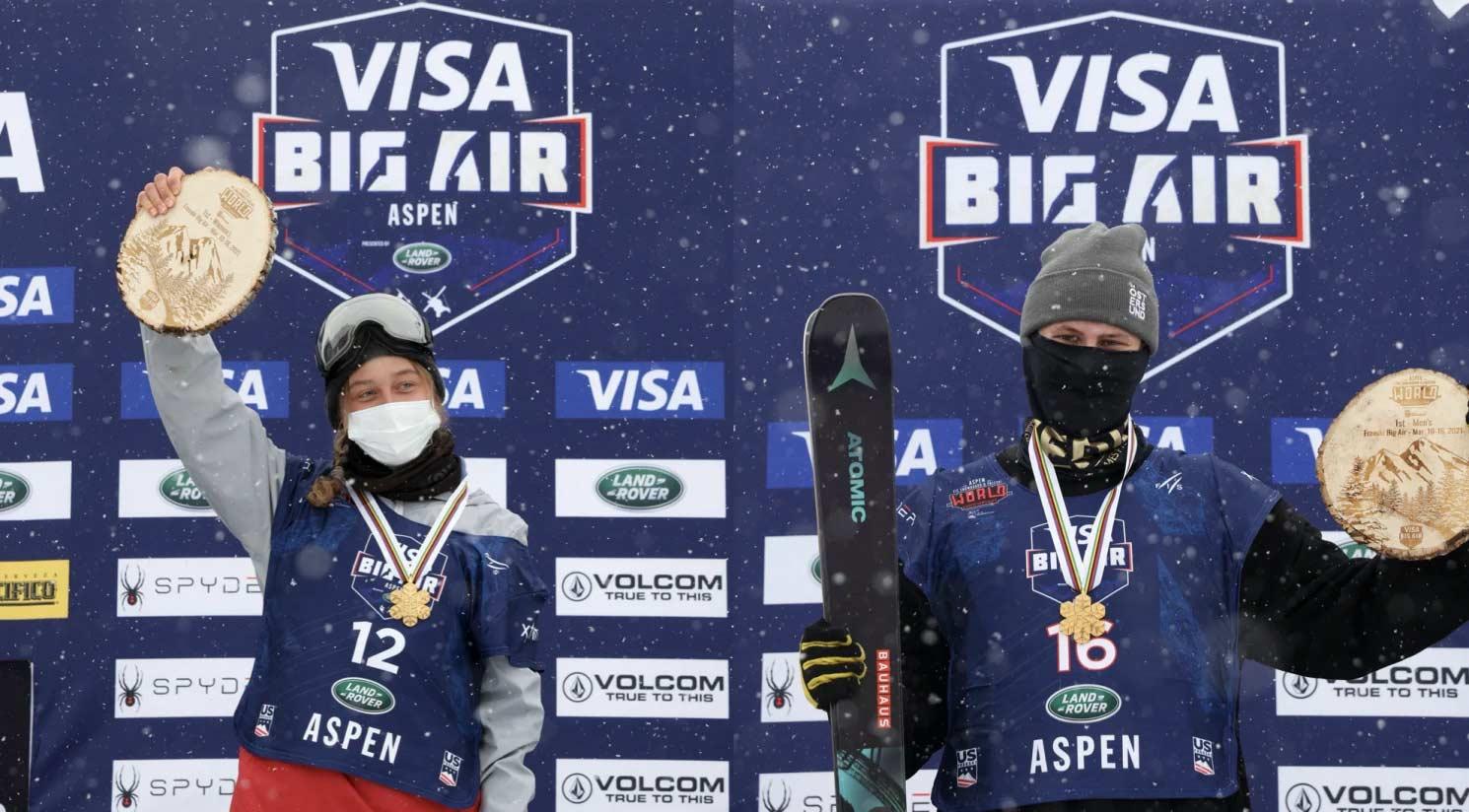 Die beiden Freeski Big Air Weltmeister 2021 - Foto: FIS