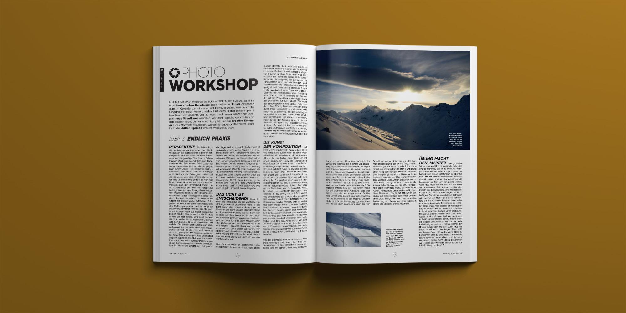 PRIME Skiing Magazin #30 – Photo Workshop