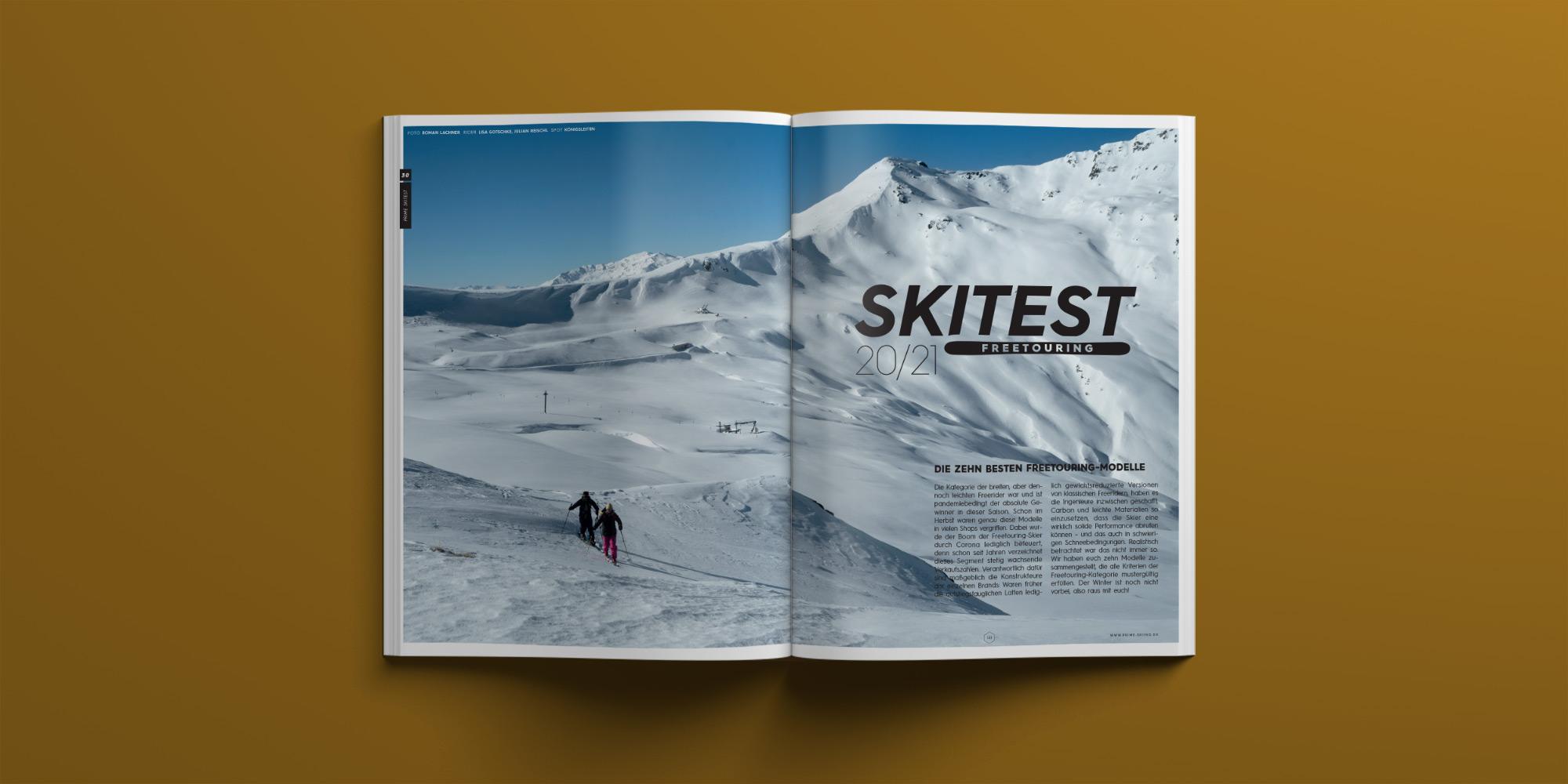 PRIME Skiing Magazin #30 – Freetouring Skitest 2020/2021 – Die zehn besten Modelle