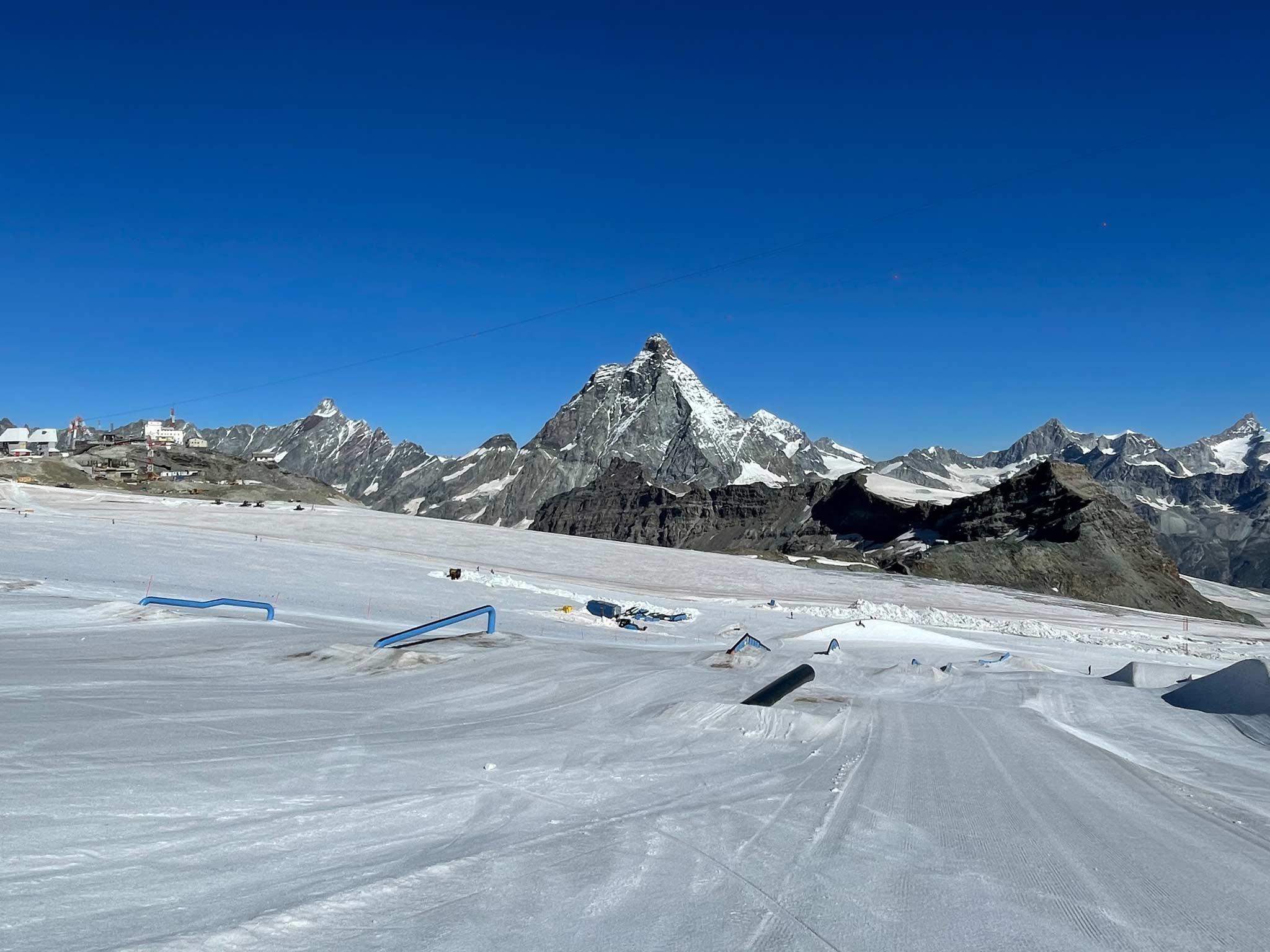 Snowpark Zermatt - Sommer Setup 2021